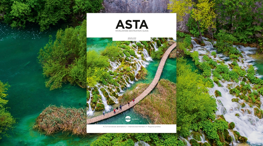 The cover of the ASTA Worldwide Destination Guide 2021